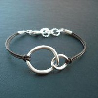 double curb link bracelet by Lana0Crystal on Etsy