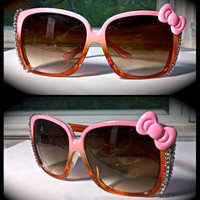 Hello Kitty hand embellished one of a kind sunglasses by SugarandSpeisz