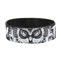 Bring Me The Horizon Owl Rubber Bracelet | Hot Topic