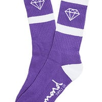 The Rock Sport Socks in Purple and White