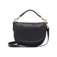 Small Effie Satchel in Black Spongy Pebbled | Women's Bags | Mulberry