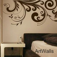 Abstract Flower Vinyl Sticker Wall Decal by ArtWalls on Etsy