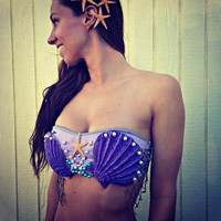 Mermaid Sea Shell Bra Halloween Costume Ariel (Last Day to Order!)