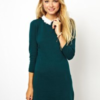 ASOS Dress With Lace Collar Detail