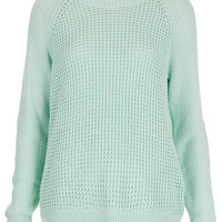 Mix Knit Slouchy Jumper