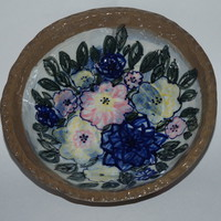 Stoneware Bowl With Flowers | Luulla