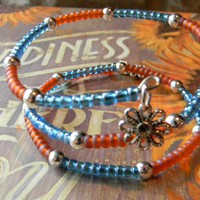 Glass Beaded Wrap Around Bracelet/Anklet | Luulla