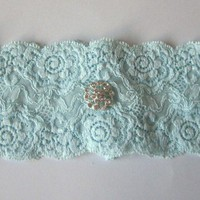 Simply Chic Bridal Garter - Something Blue | Luulla