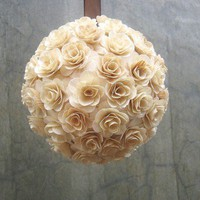 Flower Girl Pomander - Church Aisle Decor - Kissing ball - Rustic | AccentsandPetals - Wedding on ArtFire