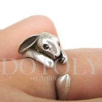 Product - Miniature Bunny Rabbit Ring in Silver Sizes 4 to 9 available by Dotoly · Storenvy