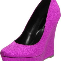 Michael Antonio Women's Anderson Glitter Wedge Pump