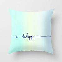 *** BE HAPPY *** Mint Ombre Throw Pillow by Monika Strigel for your bed ! THREE Sizes! on Wanelo