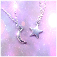Moon and Star friendship necklaces