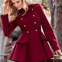 Women's Peplum coat