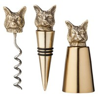 Threshold™ Wine Accessory Set - Brass Fox (set of 3)