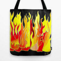 Fire Tote Bag by JT Digital Art