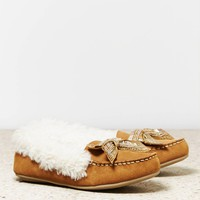 's Beaded Bow Moccasin (Black)