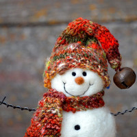 Snowmen -  Needle Felted Snowman - holiday decor - 260