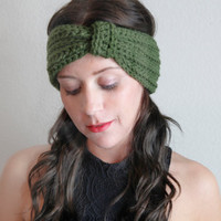 Women's Winter Accessories Crochet Ear Warmer Cinched Bow/Turban Headwrap