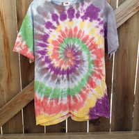 Small/ Medium/ Large/ XL Colorful Tie Dye Tee by TieDyerann