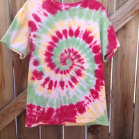Small/ Medium/ Large/ XL Rasta Tie Dye Tee by TieDyerann on Etsy