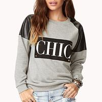 Chic Studded Sweatshirt