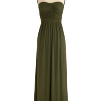 Always and For Evergreen Dress in Moss