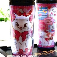 Disney Marie Cat Plastic Double Wall Thermos Travel Mug Coffee Tea Cup 13-ounce