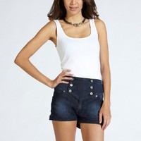 Lipsy High Waist Denim Shorts