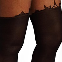 ASOS CURVE Paris Skyline Tights