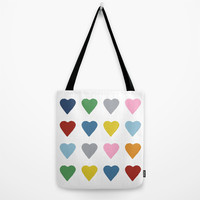 16 Hearts Tote Bag by Project M
