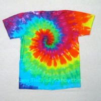 Child Large Rainbow Tie Dye Shirt
