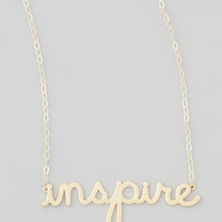 Sydney Evan Gold Inspire Pendant Necklace