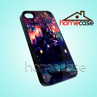 Tangled Night Sky Disney - iPhone 4/4s/5 Case - Samsung Galaxy S2/S3/S4 Case - Black or White