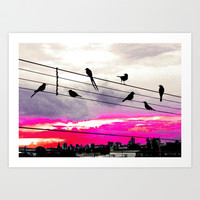 City Birds Art Print by Louise Machado
