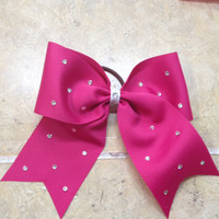 Standard Size Cheer Bow with Rhinestones - Many color options For Ribbon and Rhinestones