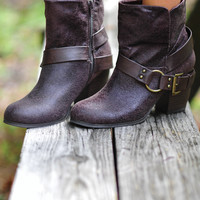 Finding My Way Bootie: Dark Brown | Hope's