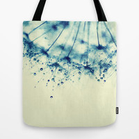 droplets of aqua Tote Bag by ingz