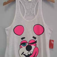 Racer Tank w/ Laced Back - Miley Bear