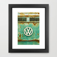 VW Retro Framed Art Print by Alice Gosling