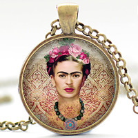 Frida Kahlo Necklace Feminist Necklace Frida Kahlo by FrenchHoney