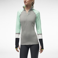 The Nike Pro Hyperwarm Engineered Half-Zip Women's Training Jacket.