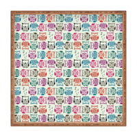 DENY Designs Home Accessories | Sharon Turner Light Sherbet Owls Square Tray