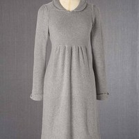 Peter Pan Collar Dress (Grey Melange)
