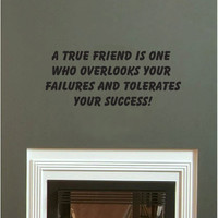 A True Friend wall quote vinyl wall art decal sticker 12x29.5