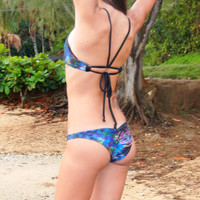 Scrunch Bum Bottoms- Psychadelic Blue
