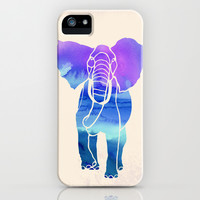 Watercolor Elephant iPhone & iPod Case by Jacqueline Maldonado