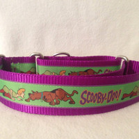 Nylon w/Scooby Doo Ribbon Martingale or Quick Release Collar