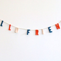 Hello Friends felt banner wall hanging