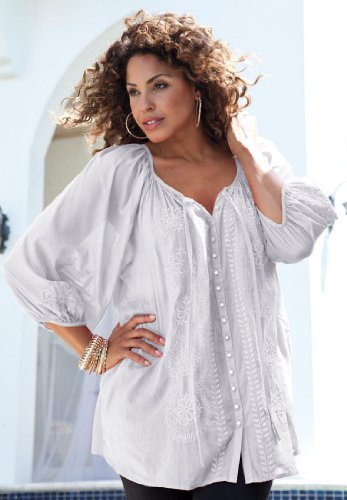White Peasant Blouse Amazon 55